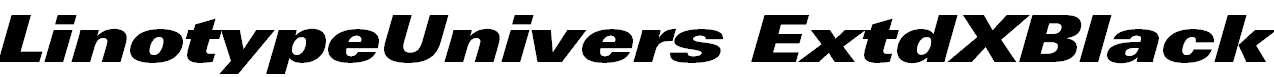 LinotypeUnivers-ExtdXBlackItalic