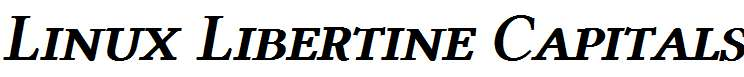 Linux-Libertine-Capitals-Semibold-Italic