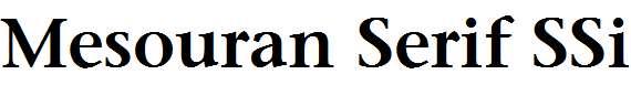 Mesouran-Serif-SSi-Semi-Bold