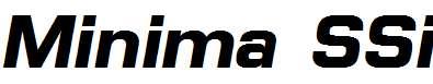 Minima-SSi-Bold-Italic