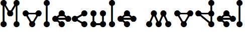 Molecule-model-Regular-E.