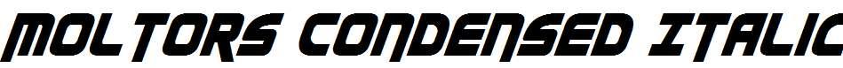 Moltors-Condensed-Italic