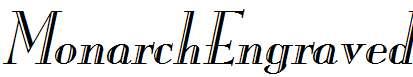 MonarchEngraved-Italic