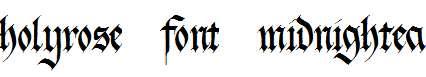 holyrose-font-midnightea