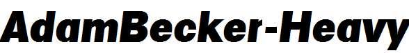 AdamBecker-Heavy-Italic