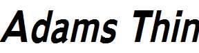 Adams-Thin-Bold-Italic
