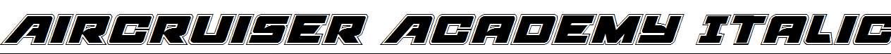 Aircruiser-Academy-Italic