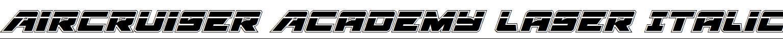 Aircruiser-Academy-Laser-Italic