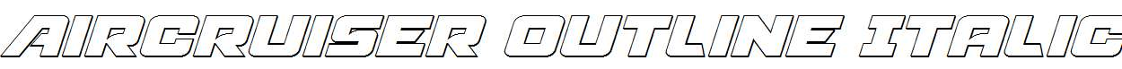 Aircruiser-Outline-Italic
