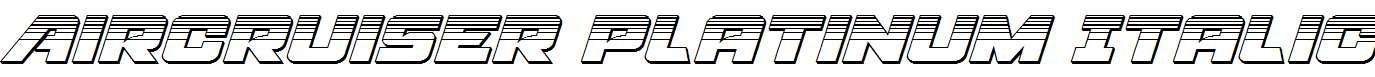 Aircruiser-Platinum-Italic