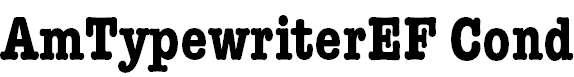 AmTypewriterEF-BoldCond