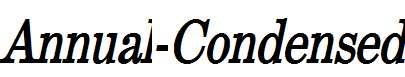 Annual-Condensed-Bold-Italic