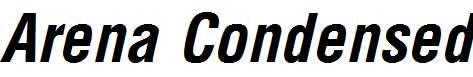 Arena-Condensed-Bold-Italic