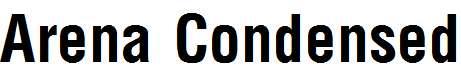 Arena-Condensed-Bold