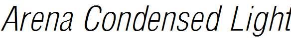 Arena-Condensed-Light-Italic