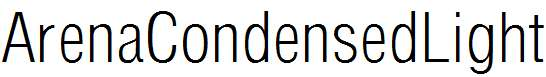 ArenaCondensedLight-Regular
