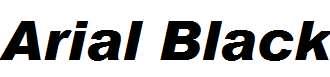 Arial-Black-Italic