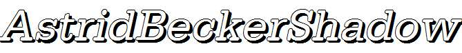AstridBeckerShadow-Italic