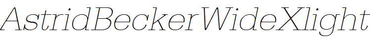 AstridBeckerWideXlight-Italic