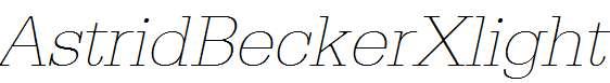 AstridBeckerXlight-Italic