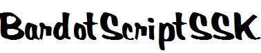 BardotScriptSSK-Bold