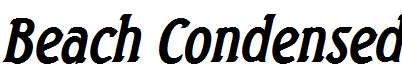 Beach-Condensed-Bold-Italic
