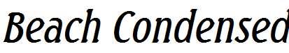 Beach-Condensed-Italic