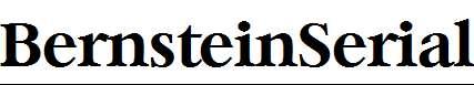 BernsteinSerial-Bold