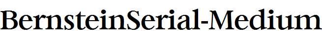 BernsteinSerial-Medium-Regular
