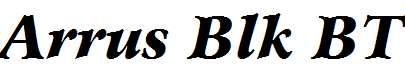 Bitstream-Arrus-Black-Italic-BT