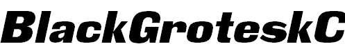 BlackGroteskC-Italic