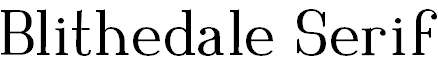 Blithedale-Serif