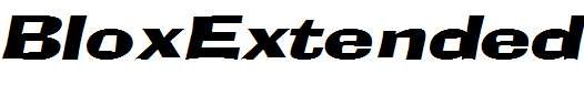 BloxExtended-Italic