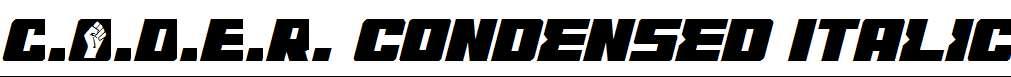 C.O.D.E.R.Condensed-Italic
