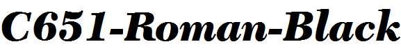 C651-Roman-Black-Italic