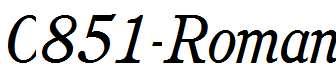 C851-Roman-Italic