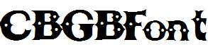 CBGBFont