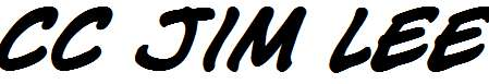 CC-Jim-Lee-Bold-Italic