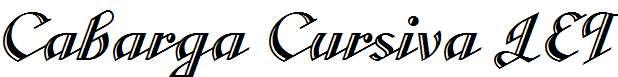 Cabarga-Cursiva-LET-Plain