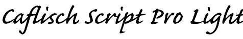 CaflischScriptPro-Semibold