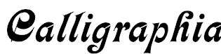 Calligraphia