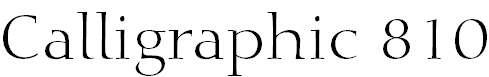 Calligraphic810BT-Roman
