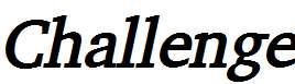 Challenge-Bold-Italic