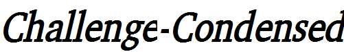 Challenge-Condensed-Bold-Italic