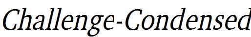 Challenge-Condensed-Italic