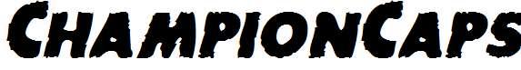 ChampionCaps-Bold-Italic