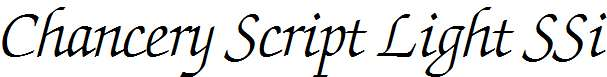 Chancery-Script-Light-SSi-Light-Italic