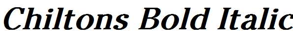 Chiltons-Bold-Italic