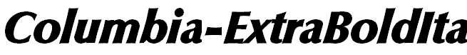 Columbia-ExtraBoldIta