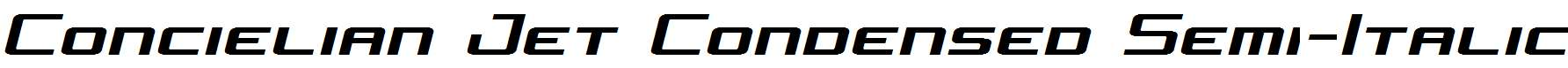 Concielian-Jet-Condensed-Semi-Italic